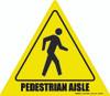 Pedestrian Aisle Floor Sign