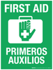 First Aid (Bilingual) - Wall Sign
