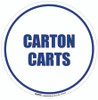 Carton Carts Floor Sign