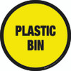 Plastic Bin Floor Sign