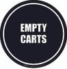 Empty Carts Floor Sign