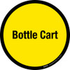 Bottle Cart Floor Sign