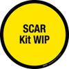 SCAR Kit WIP Floor Sign