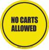 No Carts Allowed Floor Sign