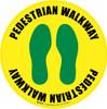 Pedestrian Walkway (Footprints) Floor Sign