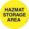 Hazmat Storage Area Floor Sign