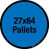 27x64 Pallets Floor Sign