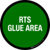 RTS Glue Area Floor Sign
