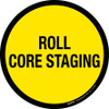 Roll Core Staging Floor Sign