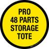 Pro 48 Parts Storage Tote Floor Sign