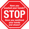 Stop Have you Washed Your Hands? Floor Sign