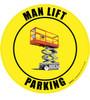 Man Lift Parking Floor Sign