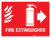 Fire Extinguisher with pictograms - Wall Sign