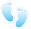 Baby Footprints - Blue