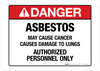 Danger - Asbestos - Wall Sign