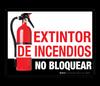 Extintor de Incendios  - No Bloquear (Fire Extinguisher - Do Not Block) - Floor Sign