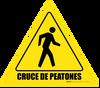 Cruce de Peatones Floor Sign
