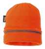Knitted Hat Reflective Trim, Orange