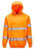 Hi-Vis Hooded Sweatshirt, Orange