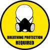 Breathing Protection Required Floor signs