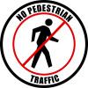no pedestrian traffic floor sign