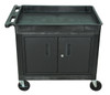 Luxor Tub Top Shelf Utility Cart with Cabinet