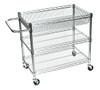 Luxor 3 Shelf Chrome Wire Tub Cart