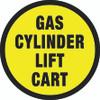Gas Cylinder Lift Cart -  Floor Sign