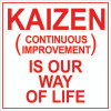 Kaizen Way of Life (Wall Sign)