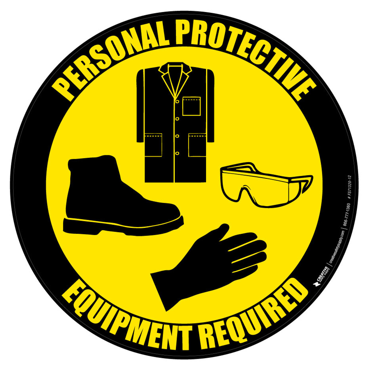 ppe lab coat goggles gloves and shoes floor sign floor rh creativesafetysupply com ppe clipart symbols ppe clip art for powerpoint