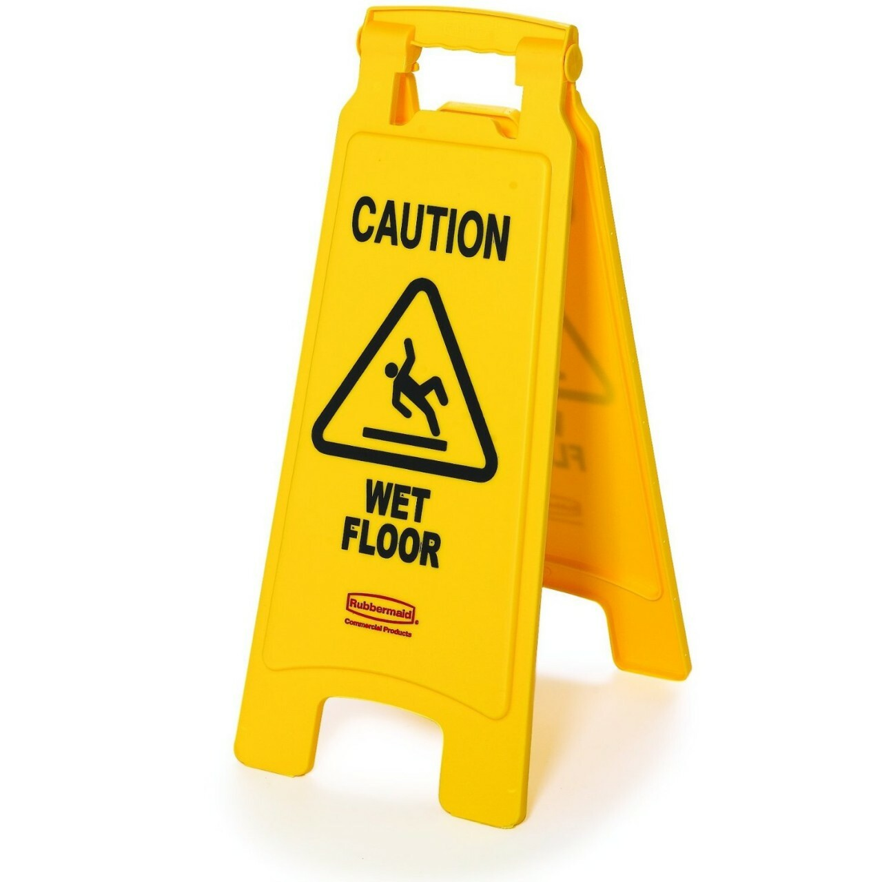 A frame two sided caution wet floor sign from rubbermaid for Floor banner