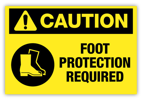 Caution - Foot Protection Required Label
