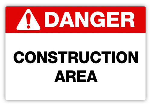 Danger - Construction Area Label