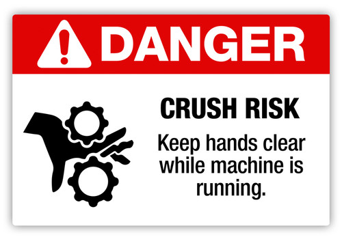 Danger - Crush Risk Label
