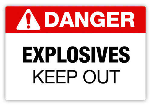 Danger - Explosives Label