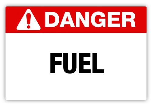 Danger - Fuel Label