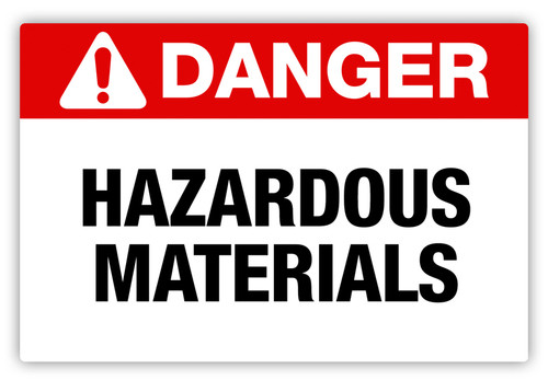 Danger - Hazardous Materials Label