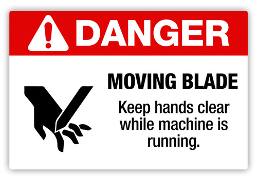 Danger - Moving Blade Label