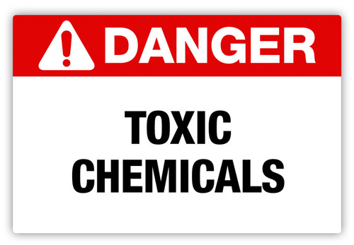 Danger - Toxic Chemicals Label