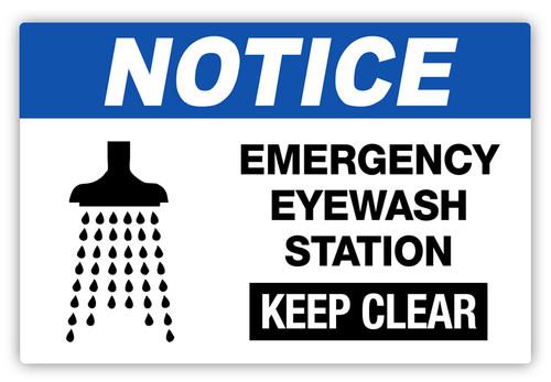 Notice - Emergency Eyewash Label