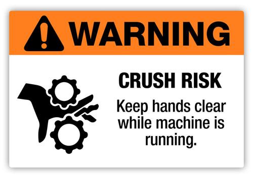 Warning - Crush Risk Label