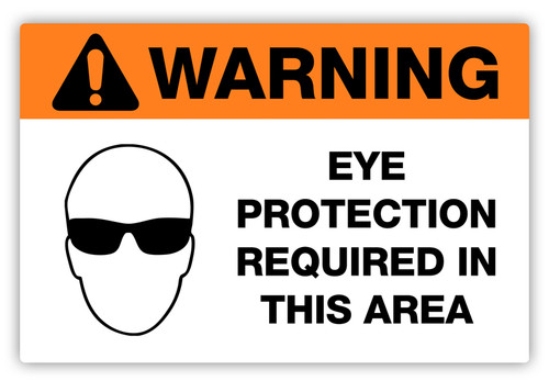 Warning - Eye Protection Required Label