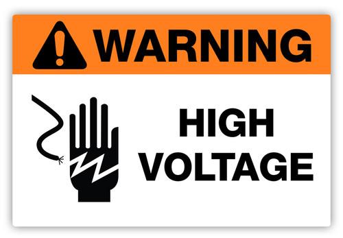Warning High Voltage Label Creative Safety Supply