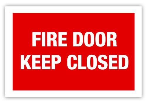 Fire Door Label