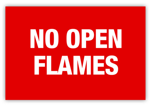 No Open Flames Label