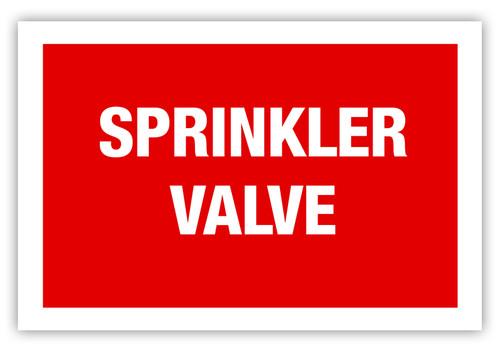 Sprinkler Valve Label