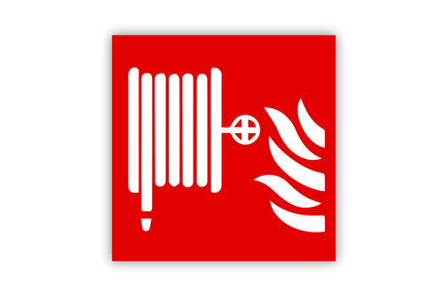 Fire Hose Symbol Label