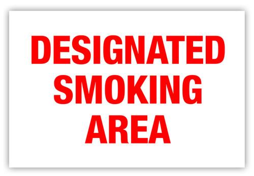 Designated Smoking Area Label
