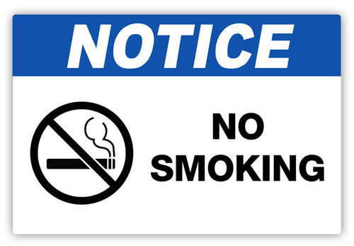Notice - No Smoking Label