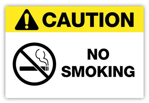 Caution - No Smokling Label